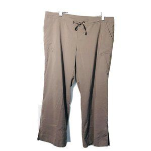 Prana Women's Small Pants Crop Capri Brown Drawstr